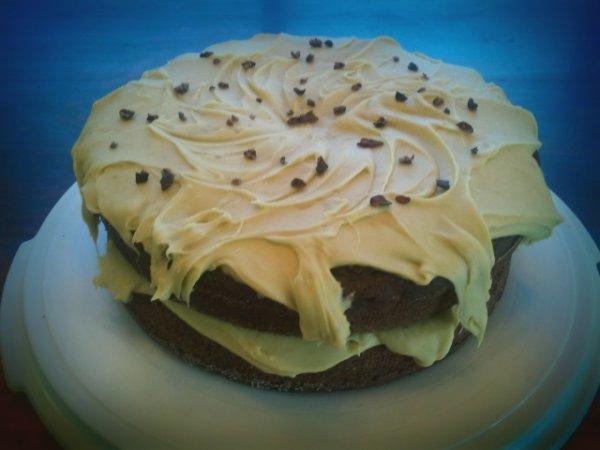 Chocolate Avocado Cake (vegan) (gluten-free) at Kitchenmonki.com