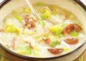 Hearty Potato Leek Soup with Kielbasa