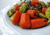 Braised Carrots & Brussels Sprouts