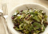 Sicillian Collard Greens with Pine Nuts and Raisins