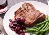 Roasted Pork With Onion Cherry Sauce