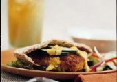 Curried Red Lentil, Carrot & Cashew Burger Patties