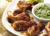 Chipotle Chicken Drummies with Avocado Mayo