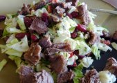 *Kidney Bean, Cabbage, and Feta Salad