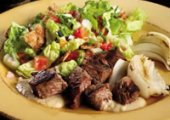 Lebanese Fattoush Salad With Grilled Chicken