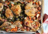 One-Pan Roast Chicken And Root Vegetables