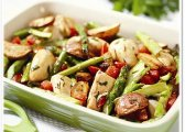 Roasted Chicken Breast With Red Potatoes And Asparagus