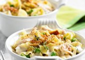 Garlic Parmesan Noodle and Chicken Mini-Casseroles