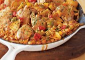 Chicken And Rice With Apples And Peppers