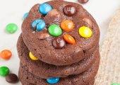 Chocolate M&M Cookies